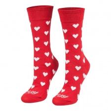 Detail produktu Ponožky srdiečka červené dlhé