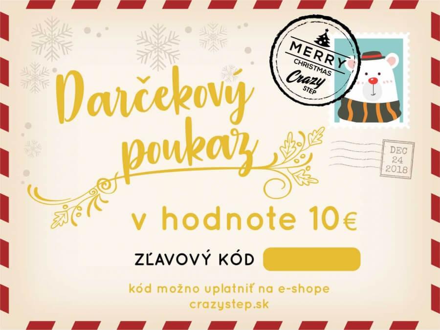 cafb8a1a5 Darčeková poukážka v hodnote 10€ - Crazystep.sk