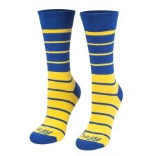 Detail produktu Ponožky pásiky žlto-modré
