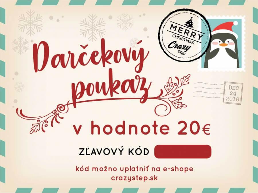 bb382ed2f Darčeková poukážka v hodnote 20€ - Crazystep.sk