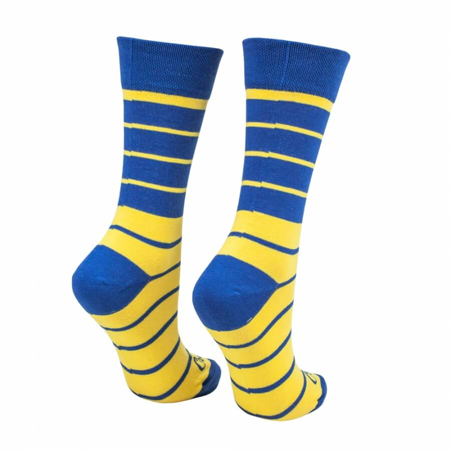 Ponožky pásiky žlto-modré