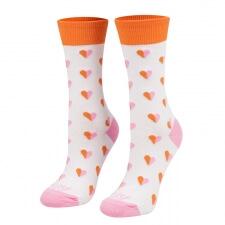 Detail produktu Ponožky srdiečka ružové dlhé