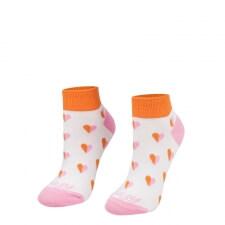 Detail produktu Ponožky Srdiečka ružové krátke