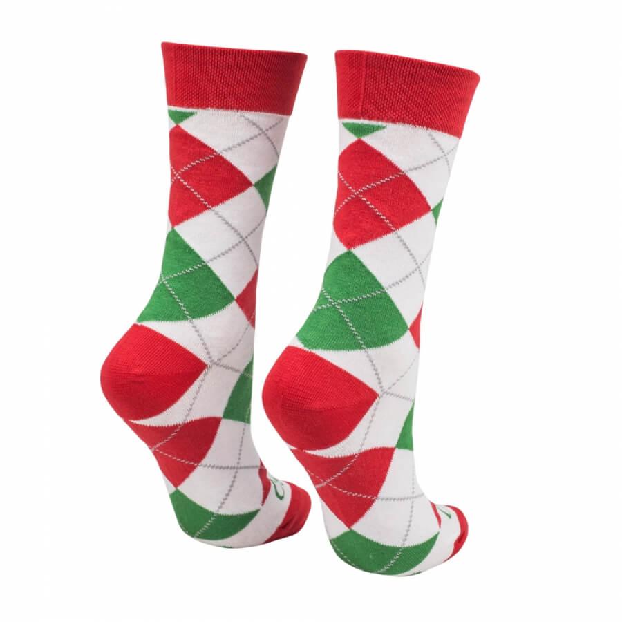 Ponožky klasik vianoce biele