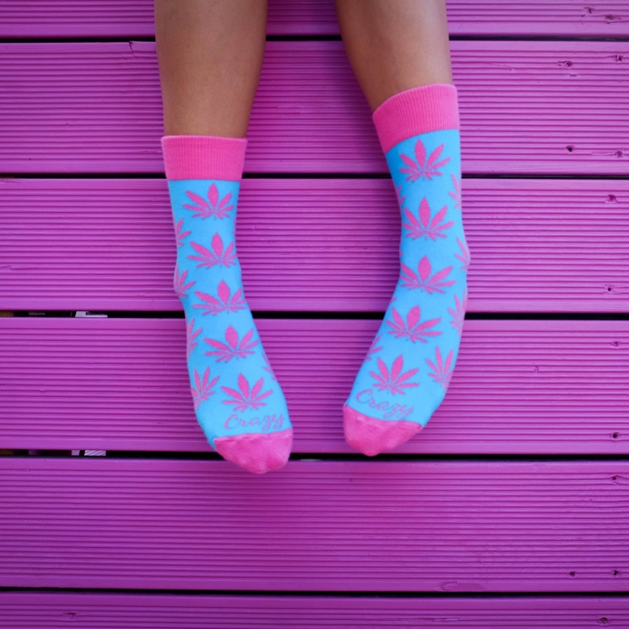 Ponožky Mariša ružová