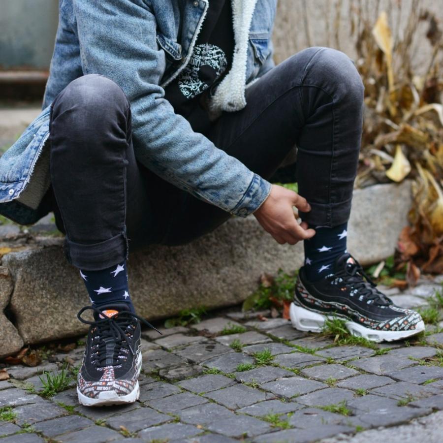 Ponožky hviezdy modré