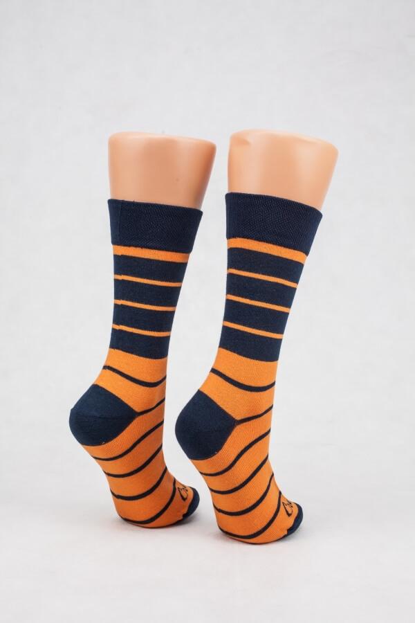 Ponožky pásiky oranžové