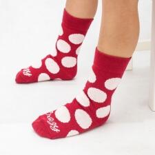 Detail produktu Červené ponožky s bodkami DETSKÉ