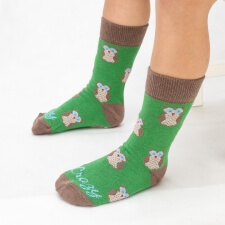 Detail produktu DETSKÉ ponožky sovička zelená