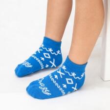 Detail produktu DETSKÉ ponožky Čičmany modré