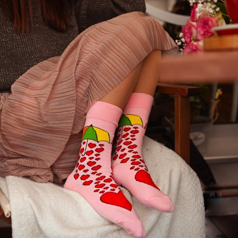 Ponožky lásky dážď