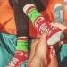 Ponožky Hadík bordový