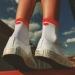 Ponožky Srdiečko malé červeno-biele