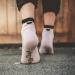 Ponožky Srdiečko malé ružovo-čierne