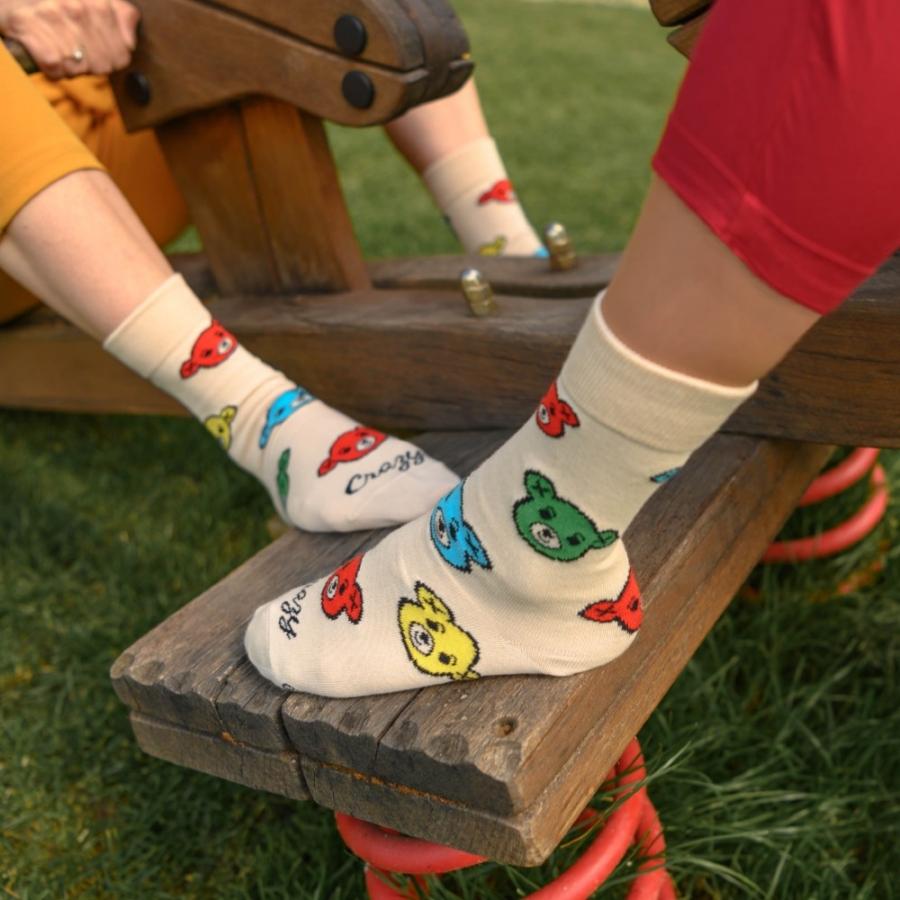 Ponožky Medvedík bielo-farebný