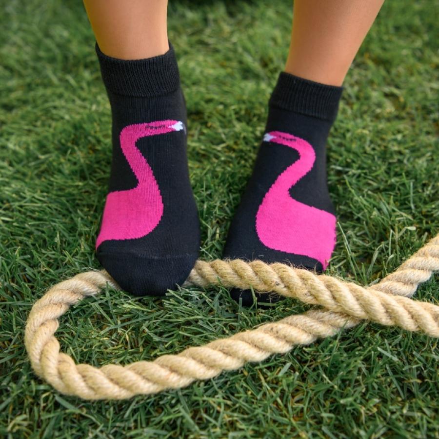 Ponožky Plameniak čierne