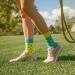 Ponožky Bodky modro-žlté