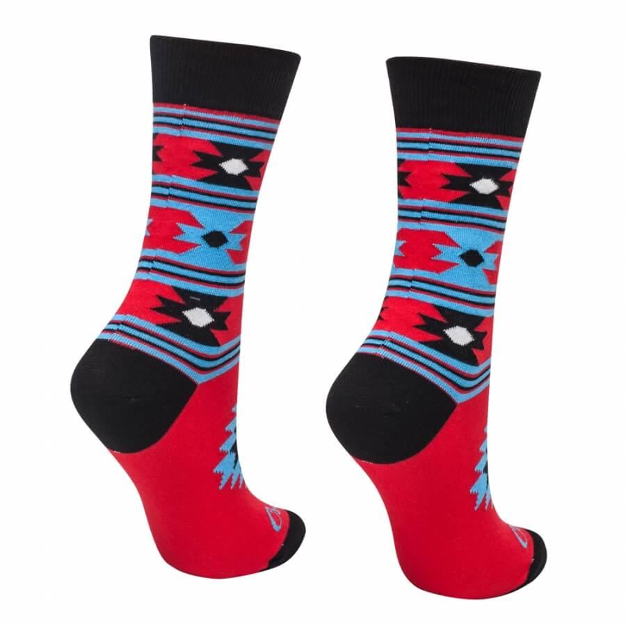 Ponožky biele ľudové srdiečko