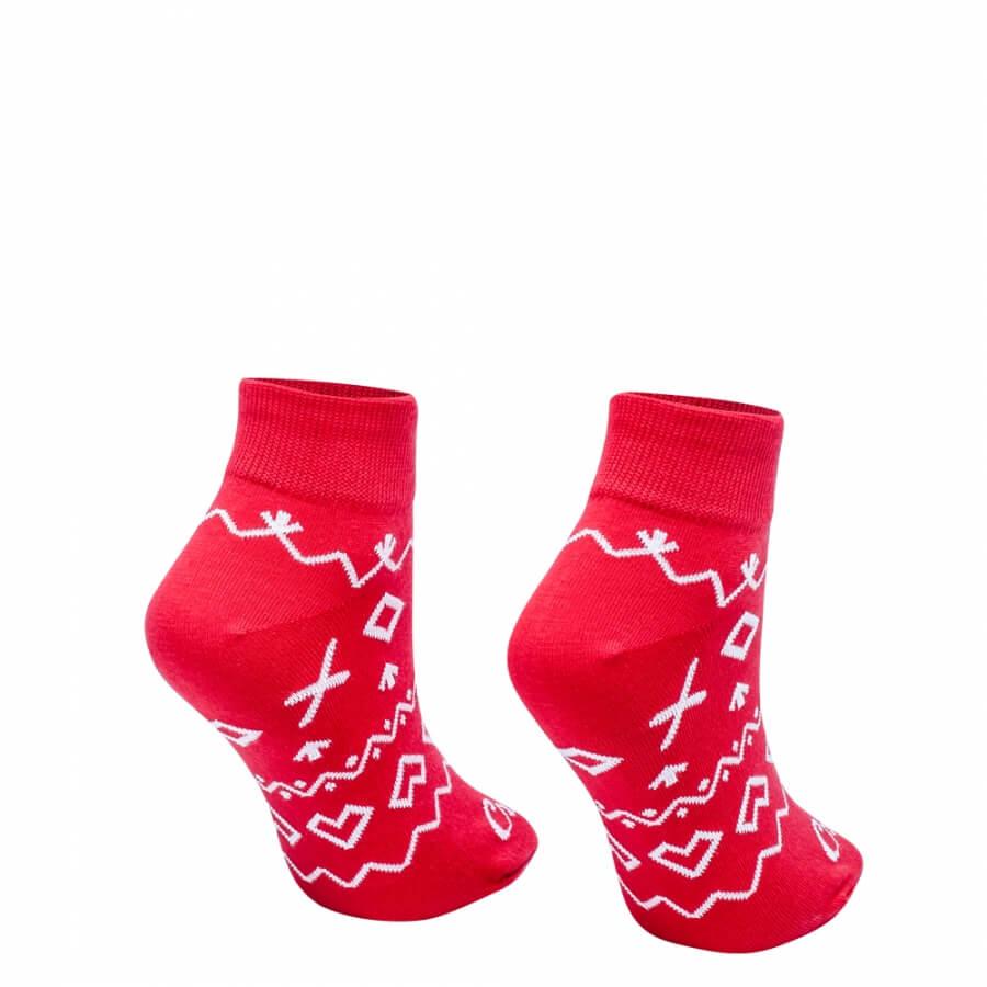 Ponožky Čičmany krátke červené