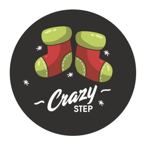 Nálepka Vianočné ponožky od Crazystep