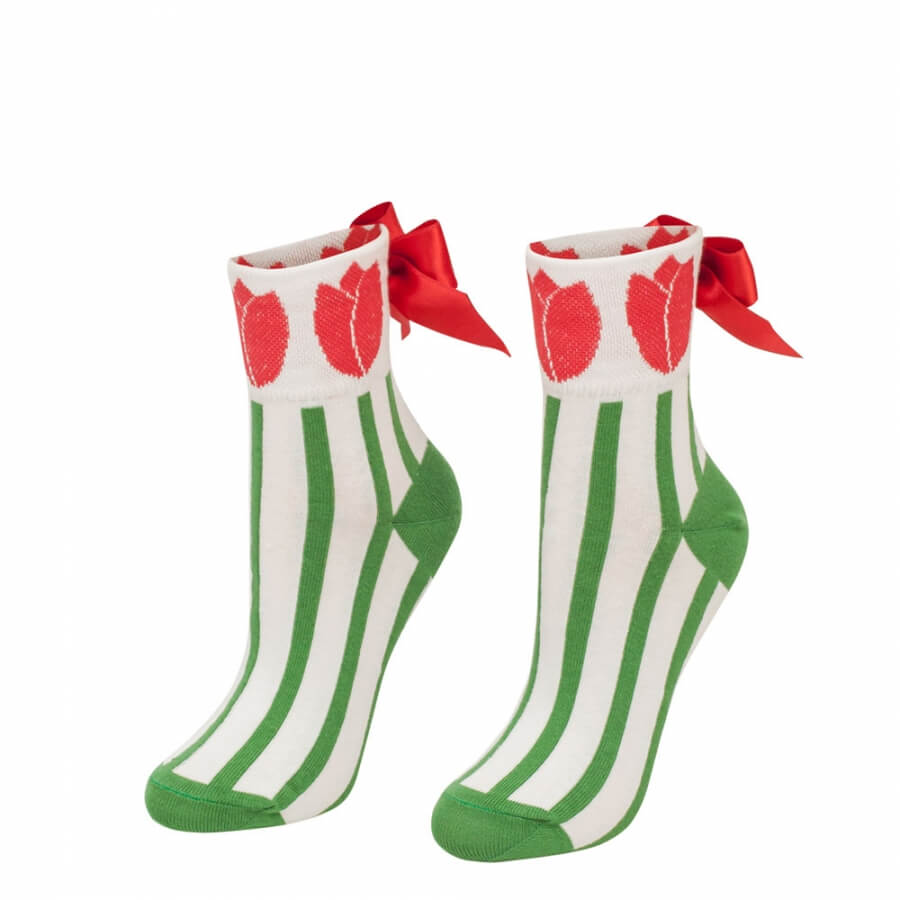 Ponožky s mašľou Tulipán